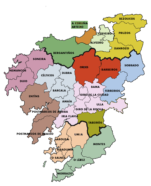 Organizacin territorial  Archicompostela